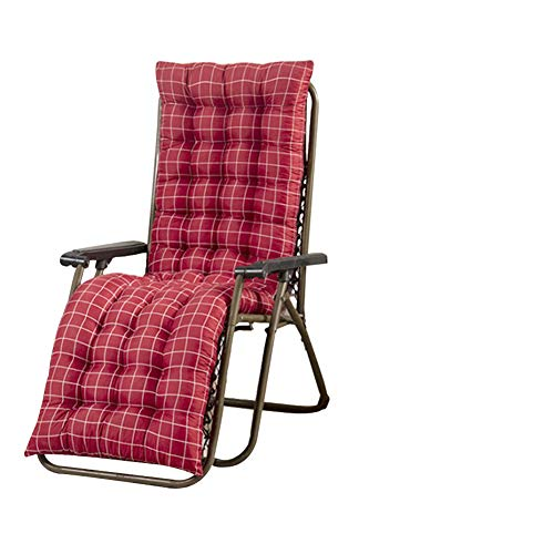 61 Inch Patio Chaise Lounger Cushion, Indoor/Outdoor Chaise Lounger Cushions Rocking Chair Sofa Cushion with 6 Ties,Thick Padded for Sun Lounger Rocking Chair Swing Bench Cushion (Style 3)