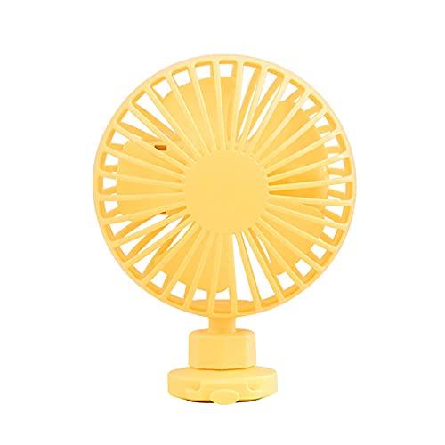 Mini ventilador de ventilador portátil Mesa de ventilador Silent Enfriamiento USB Recargable de aire Ventilador de refrigeración Ventilador portátil para el hogar, oficina -blanco