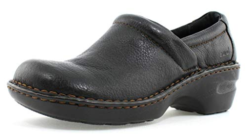 Born Women's B.O.C Peggy Leather Clog, Black, 10 B(M) US