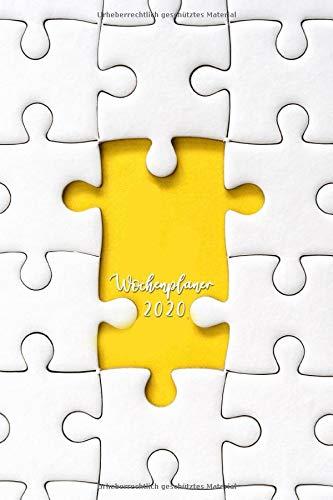 Wochenplaner 2020: Terminplaner 2020 | Jahreskalender A5 | Timer | Erzieher Sozialarbeit Lehrer Geschenk | 160 S. | A5 |  puzzle