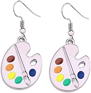 Fuqimanman2020 Colorful Palette Earrings Necklace Jewelry Set