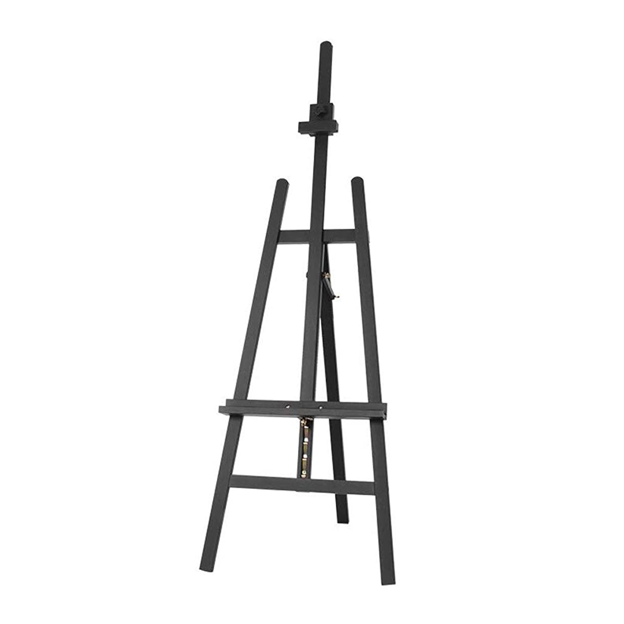 言い訳プライバシーどっちSHWSM 松の背中のサポートイーゼルは、学生の屋内使用のために便利な、上げ下げすることができます57 * 64 * 147(193)cm、黒のクルミの色 イーゼル (色 : ブラック)