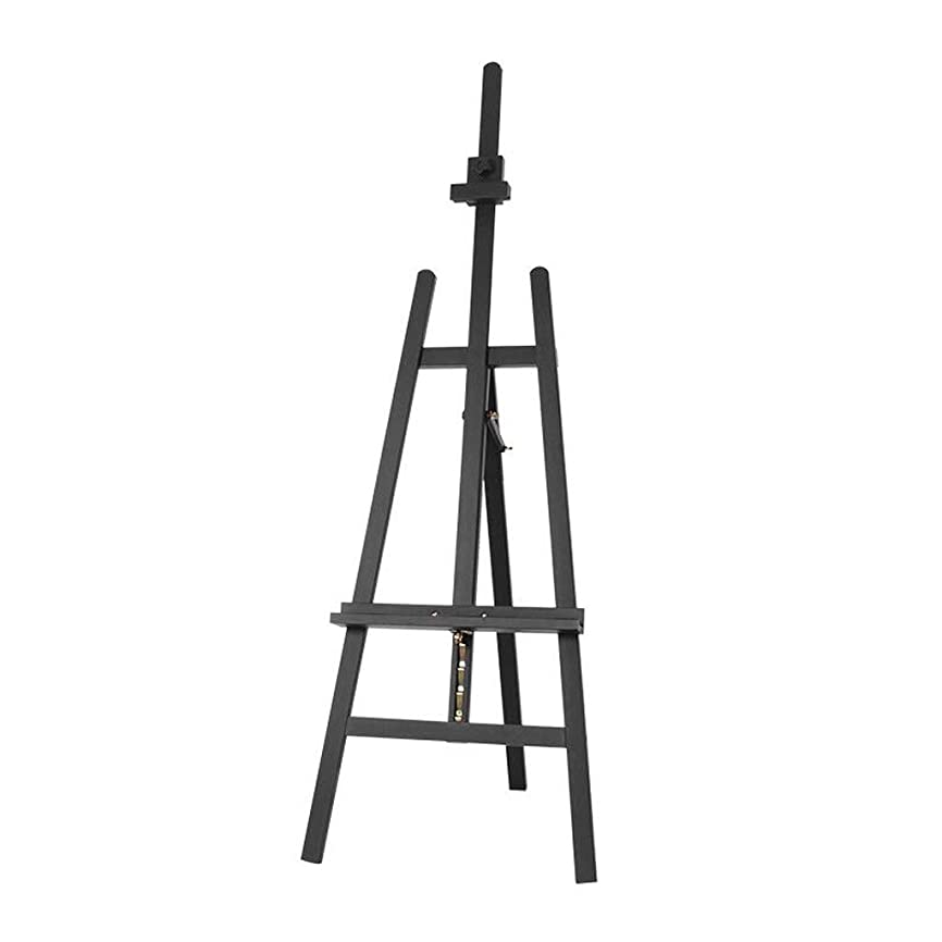 アイスクリームスイ靄SHWSM 松の背中のサポートイーゼルは、学生の屋内使用のために便利な、上げ下げすることができます57 * 64 * 147(193)cm、黒のクルミの色 イーゼル (色 : ブラック)