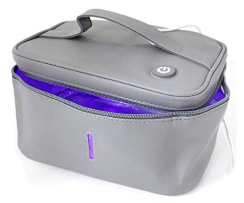 Portable Sterilizer Bag | UV-LED Sanitizer Box | Multipurpose Cleaner Sterilizing Sanitizing Container Bin | Kill 99.9% In 3 Minutes | Mask, Phone, Bottle, Jewelry, Keys