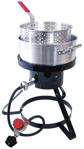 Cheapest Price! Masterbuilt MB10 Outdoor LP Gas 10-quart Fryer and Seafood Kettle