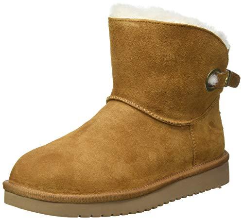 Koolaburra by UGG Women's REMLEY Mini Fashion Boot, CHESTNUT, 10