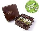 Delizia turca a mano Premium - Senza glutine - Assortiti - Pistacchio organico ricoperto di frutta e noci assortite. Vegan - Low Sugar - Authentic Gift Box (16 pezzi - Mix di 4)