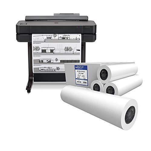 "DesignJet T650 Wide Format Wireless Plotter Printer 24""() + Alliance CAD Inkjet Bond Paper Rolls (36150) Bundle - hp 5HB04A"