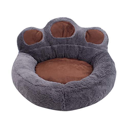Yowablo Winter Warmer Schlafsack Bear Claw Haustierbett Beruhigendes Hundebett Abnehmbar (62 * 68cm,Grau)