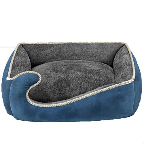 NZAUA Cama de Perro, sofá para Perros, sofá de Perro Grande, Cubierta extraíble y Lavable a máquina, con cojín Reversible Blue-XL