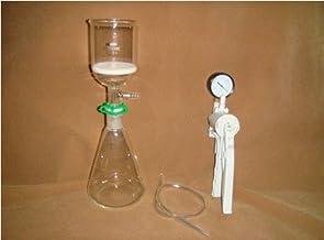 GOWE - Juego de filtración de 250 ml [Erlenmeyer Flask+Filter Funnel(3#) + Bomba de vacío], kit de filtración de laboratorio
