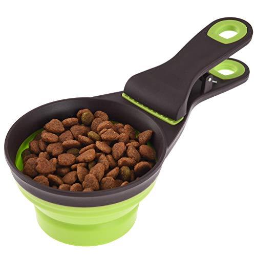 Petacc Multi-funktionale Pet Food Löffel | Pet Silikon Napf,Mit Clip, 237ml Kapazität