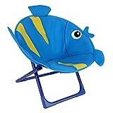 Silla plegable para niños con asiento de luna exterior portátil, con diseño de Cartoon de una bonita silla de comedor, minitumbona, cómoda para camping, playa, jardín, pesca, pesca