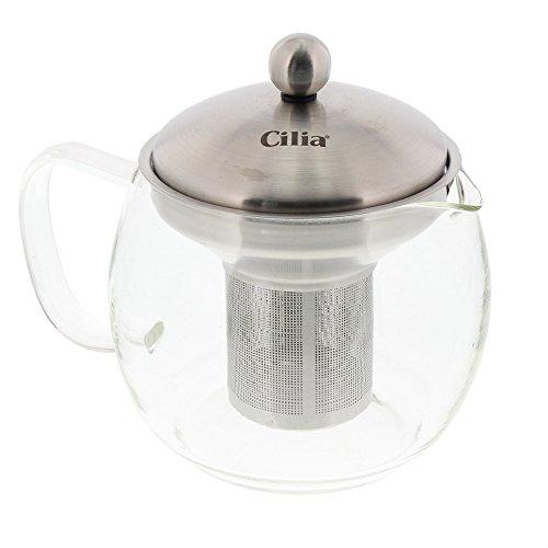 Cilia theepot van borosilicaatglas inclusief roestvrijstalen filter, 0,875 liter, 212927
