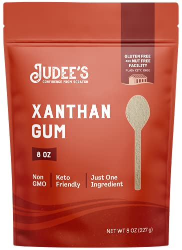 Judee's Xanthan Gum 8oz - 100% Non-GMO, Keto-Friendly, Gluten-Free & Nut-Free - Pure Food Grade - Gluten-Free Baking Essential - Great for Keto Syrups, Sauces, and Thickening (packaging may vary)