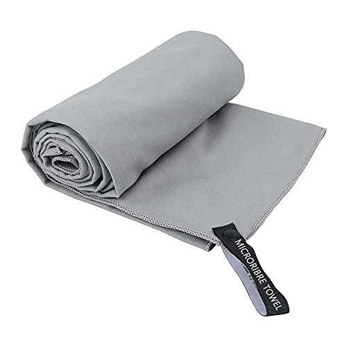 Rpanle Asciugamano in Microfibra, Asciugamano Microfibra Piccolo, Asciugatura Rapida, Assorbente, Adatto per Campeggio,Yoga, Fitness, Spiaggia, Palestra ect (Grigio)