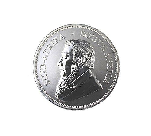 South African Mint Silbermünze Krügerrand 1 Unze 2017, einzeln in Münzkapseln verpackt- vakuumiert verschweißt