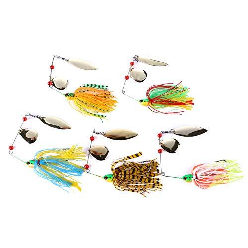 Yonphy Chatterbait - Juego de señuelos artificiales para pesca de lucios, lucios, perca, lucioperca
