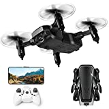 WHWYY Mini Drone for Kids & Beginners FPV RC Drone with HD Wi-Fi Camera 2.4G 6-Axis Quadcopter Drone with Altitude Hold/Headless Mode/Foldable Arms/One Key take Off/Landing Easy Fly for Training