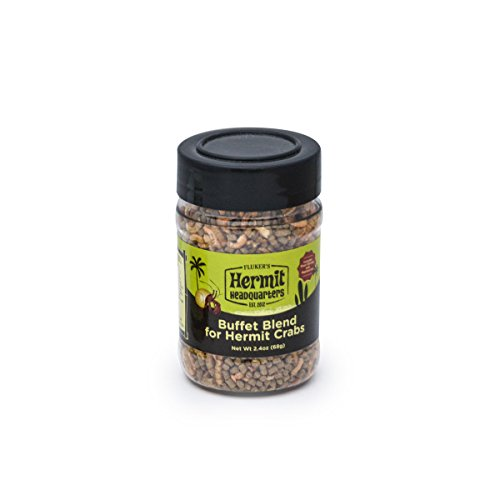 Flukers Buffet Blend Diet - Food for Hermit Crabs, 2.4-Ounce