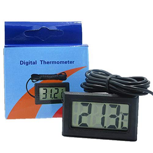 Zhou-YuXiang Termómetro Digital LCD sin congelador de batería Mini termómetro Termómetro electrónico para Interiores y Exteriores con Sensor
