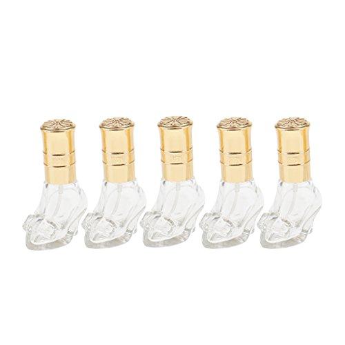 dailymall 5pcs 6ml Bouteille à Pompe En Forme De Chaussure Crystal à Parfum -