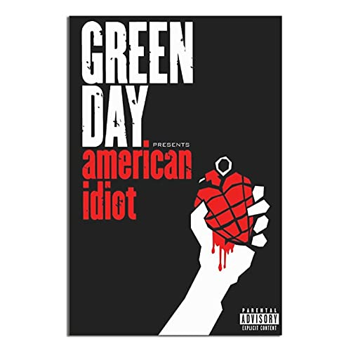 Green Day Poster Rock Music Creen Day American Idiot poster canvas prints wall art poster painting for living room decorations Unframe-X1 12×18inchs(30×45cm)