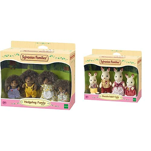 SYLVANIAN FAMILIES - 4018 - Familia Erizo+ - 4150 - Familia Conejo Chocolate