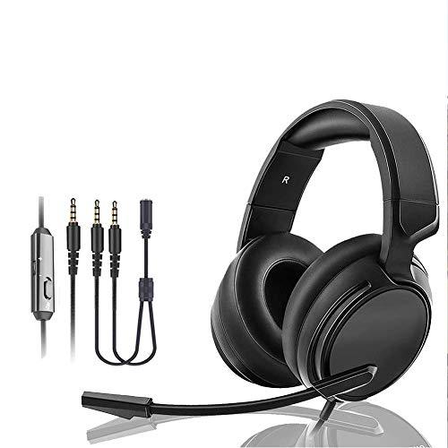 Preisvergleich Produktbild kaige Xbox One Gaming Headset,  Kopfhörer 3.5MM Stecker-Durchmesser Head-Mounted mit drehbarer Noise Reduction Mic for PS4,  Nintendo Switch,  PC,  Laptop WKY