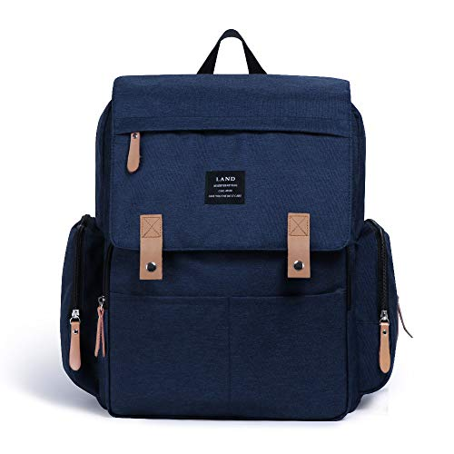 Land Baby Diaper Bag Backpack - Multi-Function Waterproof Maternity Travel Nappy Bags for Baby Care - Large Capacity, Durable and Stylish (Large - Dark Blue)