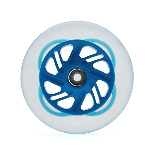 QXYOGO Ruedas Patinete Rueda de Patinaje Ligera Colorida de 125 mm for Patinaje de maratón de Velocidad en línea 125 Ruedas de Scooter Perlas Colorido Flash Brillo 1 (Color : Blue Colorful Light)