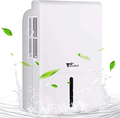 amzdeal Portable Dehumidifier for Home?Basement, Digital Display, 1500ml?51 oz ?Capacity, Remove 1 Pint (17 oz) of Water per Day, Bedroom ,Closet,Bathroom,Office by amzdeal