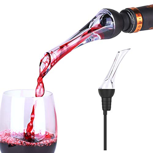 DRAGONN Premium Wine Aerator Pourer - Instant Red Wine Aeration for In Bottle Use - Perfect Wine Accessories - Gift Box