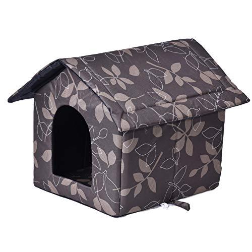Seasaleshop Katzenhaus Katzenhöhle Für Draußen Winterfest | Wasserdicht Wetterfester Hautier Haus | Weich Und Warm Faltbare Katzenhütte Für Hund Katze