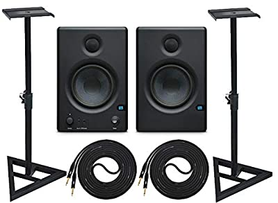 """PreSonus Eris E4.5 Pair 2-Way 4.5"""" Active Studio Monitor Pair and Stands with 2 Cable Set by PreSonus"""