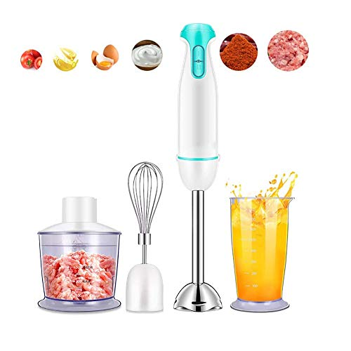 YFGQBCP 300W Hand Blender, 2-Speed 4-in-1 Stick Blender with Turbo Function, Stainless Steel