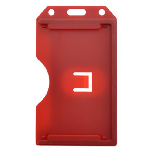 Red 2-Sided Rigid Vertical Multi-Card Holder SPID-0386 by Specialist ID, Sold Individually