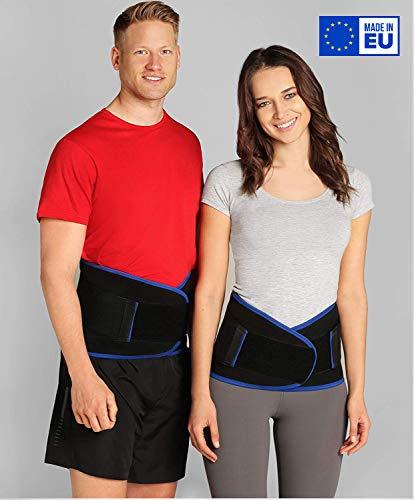 ®BeFit24 Premium Rückenbandage Lendenwirbel für Herren und Damen - Ischias-Bandage - Stützgürtel Lendenwirbelsäule - Rückenstützgürtel - [ Size 3 - Schwarz ]