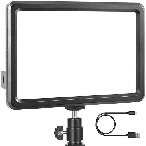 Kamera Videoleuchte LED, RALENO Studio-Licht Ultra-dünn Tragbare CRI 95+ Eingebaute 5000mA Lithium-Batterie 3200K-5600K Kamera Videobeleuchtung mit Blitzschuhhalterung für alle DSLR-Kameras