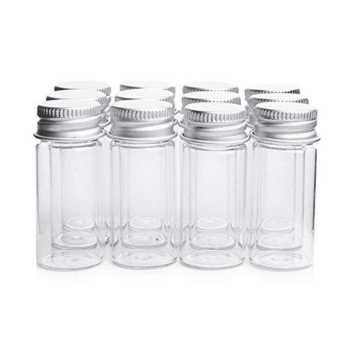 Botellas de cristal transparente con aluminio,frascos para caramelos, bisutería, adornos, para bodas, de Danmu Art., vidrio, transparente, 10 ml