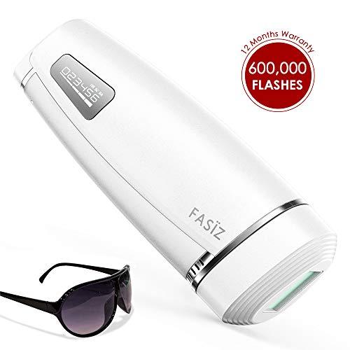 FASÏZ IPL Haarentfernungsgerät Professionelle Dauerhafte Haarentfernung Licht-Haarentferner für Frauen/Männer Körper und Gesicht 600.000 Lichtimpulse (Weiß)