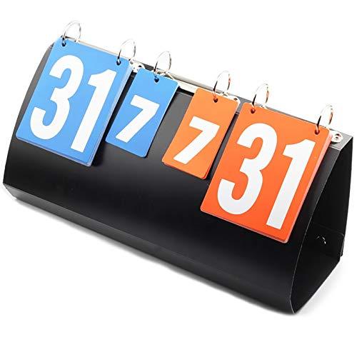 MAATCHH Marcador 4 dígitos Voleibol de rotación de Voleibol Ball Supplies Plegable anotador Marcador de Baloncesto Baloncesto (Color : Black, Size : 40x15.5x20cm)