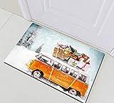 SRJ2018 Nuevo autobús navideño Invierno Nieve cojín Forro baño