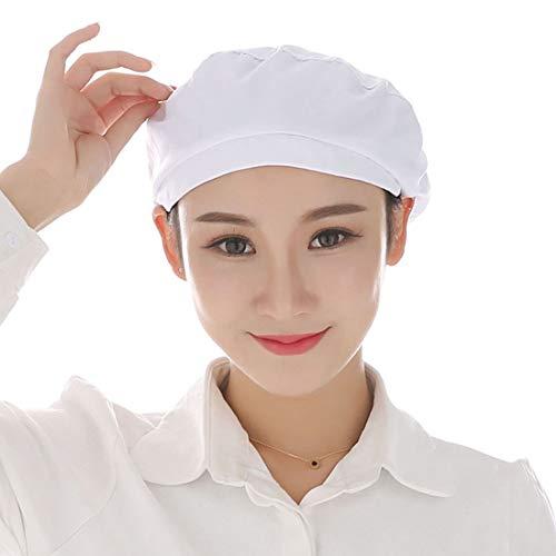 Freahap Gorro de Trabajo para Mujer Ajustable, Sombrero de Trabajo para Cociona Gorro de Chef Cocinero Gorra para Trabajo Uniforme para Restaurante Fábrica Taller