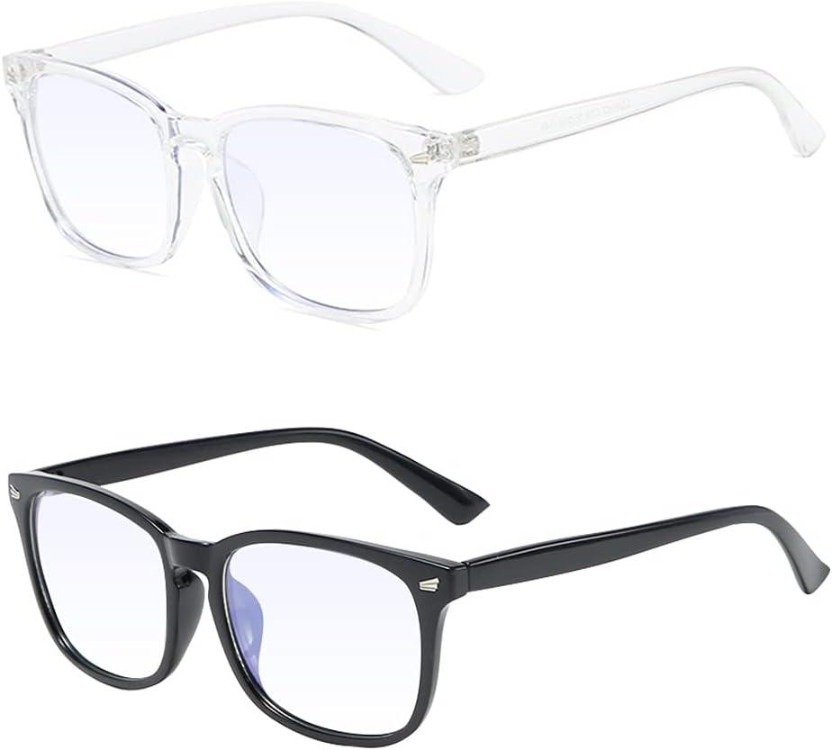 Gafas de luz azul, Gafas de bloqueo de luz azul,Gafas de lectura, Gafas de filtro azul, gafas de radiación que pueden filtrar la luz azul para aliviar la fatiga ocular, unisex - 2 piezas
