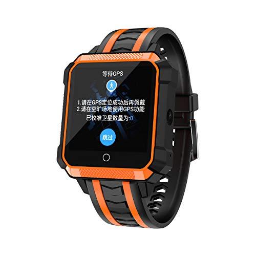 MTSBW GPS 3G Smart Watch Android con Tarjeta SIM podómetro Deportes Tracker SmartWatch teléfono 900mAh WiFi BT 4.0 Reloj de Pulsera Hombres,Orange