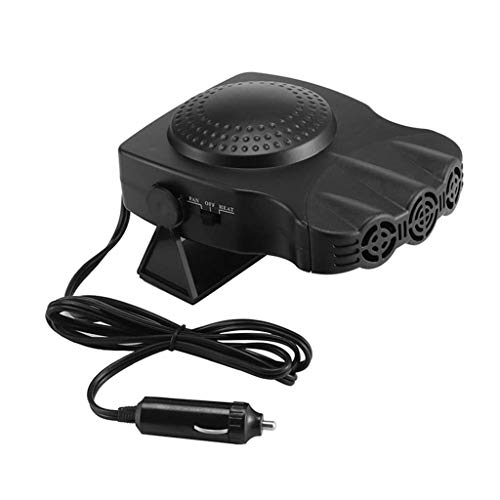 YunZyun Portable Heater for Car, New Auto Car Heater Cooler Dryer Fan Portable Adjustable Defroster Demister 12V 50W, for Vehicle Trucks Home Office Table (Black 12V 150W)