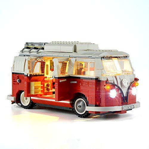 HZQM Building Blocks Light Kit for 10220 Creator Expert Volkswagen T1 Camper Van  Compatible with Lego VW Bus Model Lego Set Not Included