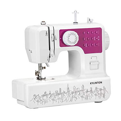 Kylinton Sewing Machine for Beginners Mini Sewing Machine for Kids Electric Small Sewing Machine with Foot Pedal 12 Builtin Stitches 2 Speeds Automatic Winding for Cloth Girls Adults Rose Red