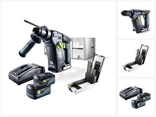 Festool BHC 18 Li-Plus Akku Bohrhammer 18V (574720) 25Nm Brushless im Systainer + 2x 5,2Ah Akku + Ladegerät + 7tlg Bohrerset